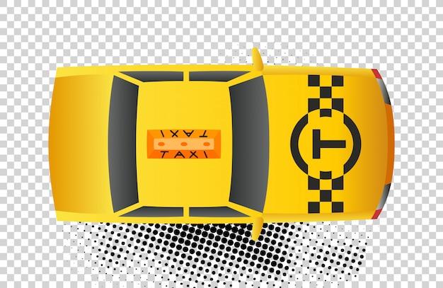Taxi car top view icon