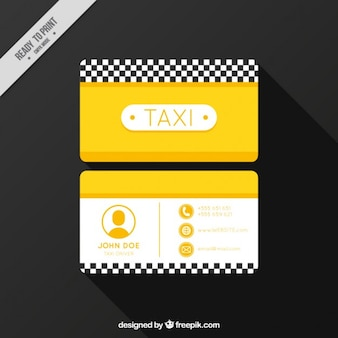 Taxi company, business card