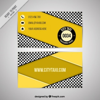 Taxi company, geometric business card