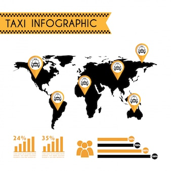 Taxi design over white backgroundvector illustration