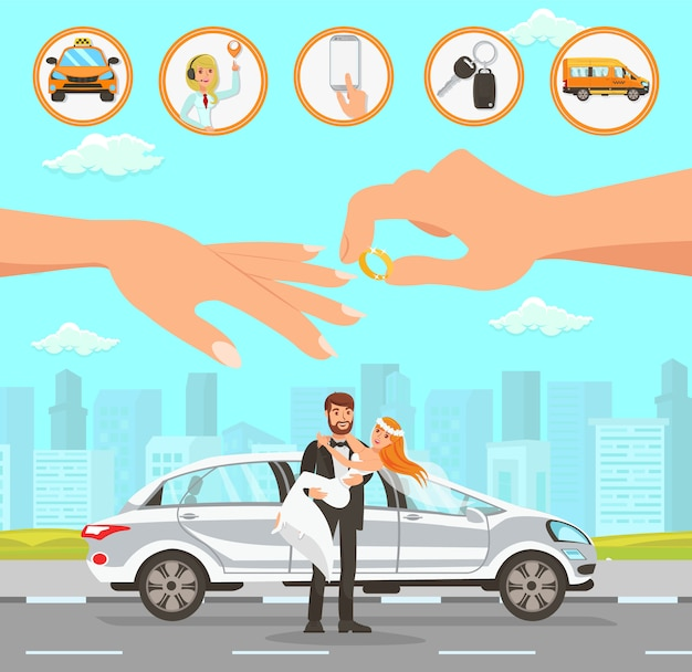 Taxi and driver services at wedding