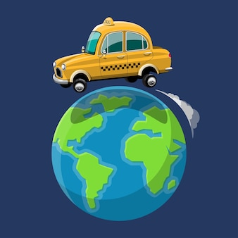 Taxi on the earth