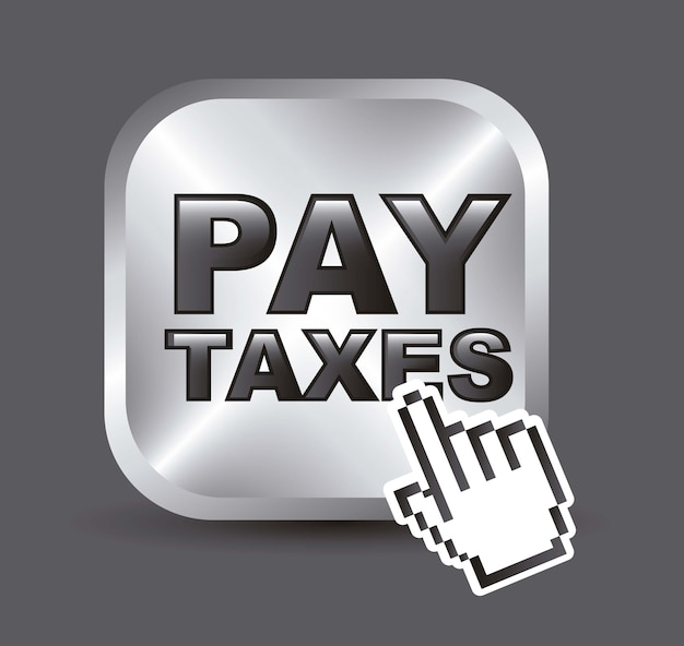 Taxi icon over gray background vector illustration