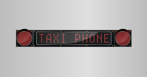 Taxi phone sign from led panel board