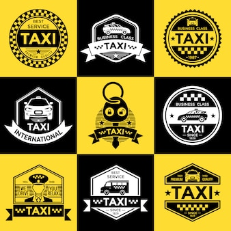 Taxi retro style emblems