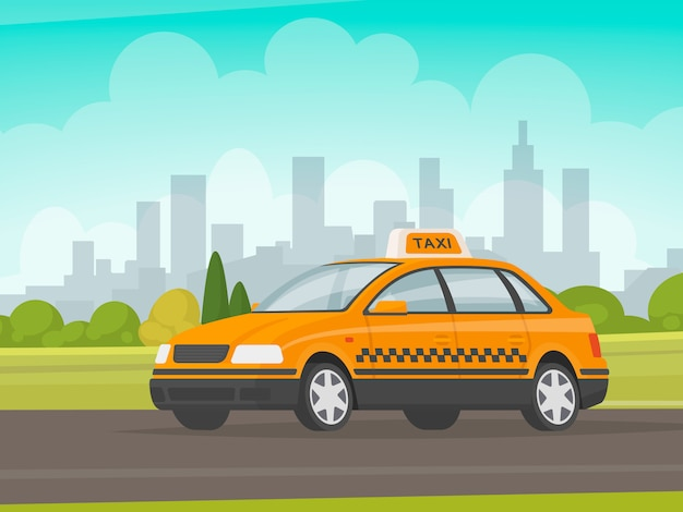 Taxi rides on city