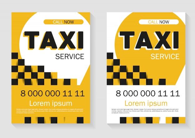 Taxi service advertising. trendy template