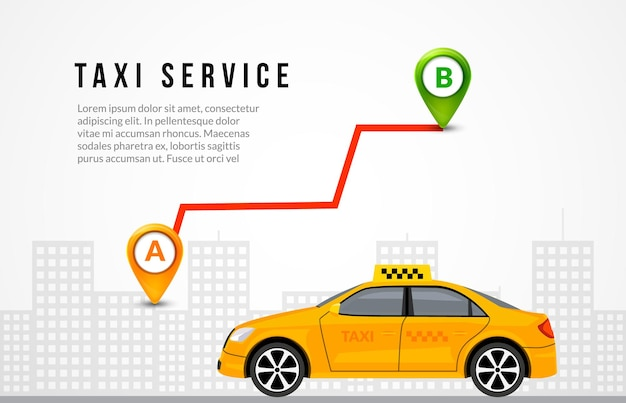 Taxi service cab flyer template background. taxi driver app vector brochure banner concept.