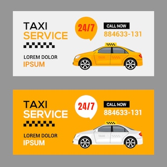 Taxi service cab flyer template background. taxi driver app vector brochure banner concept