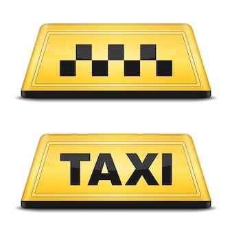 Taxi sign, vector eps10 illustration