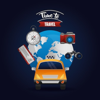 Taxi transport around of world