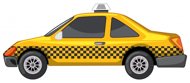 Taxi in yellow color