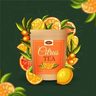 Чайная реклама с ручной росписью