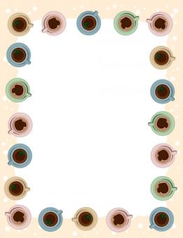 Шаблон письма формата чая и кофе в пастельных тонах.