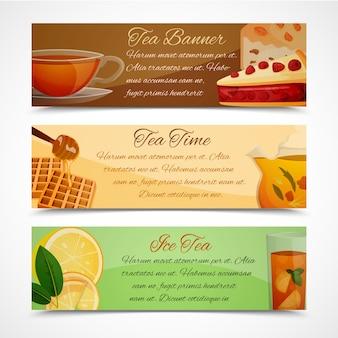 Tea banners set
