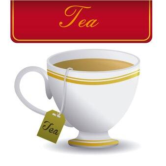 Tea design over white background vector illustration