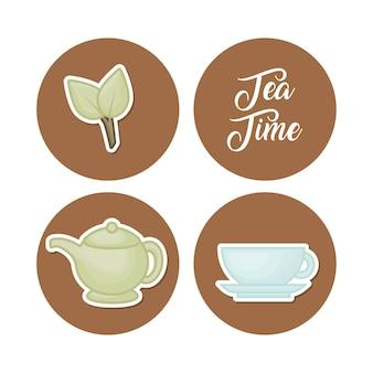 Набор чайных иконок