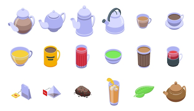 Tea icons set.