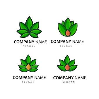茶葉のロゴ。お茶のベクトルイラストラベルテンプレート。孤立した背景。