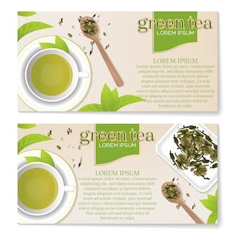 Tea leaflets design