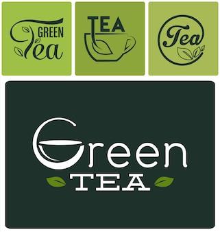 Tea logos collection