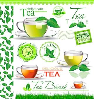 Tea menu card