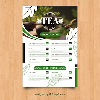 Tea menu template
