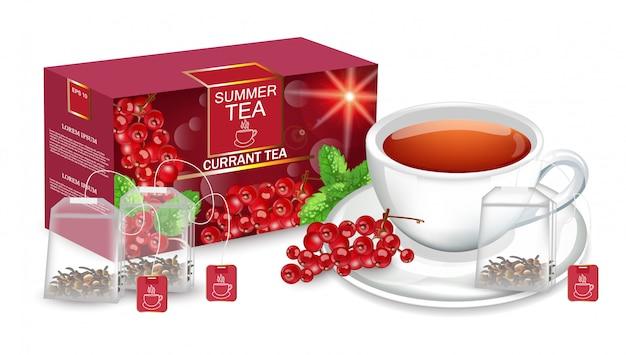 Tea packaging mock up