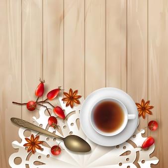 Tea party fall illustration