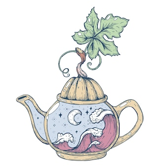 A tea party for halloween