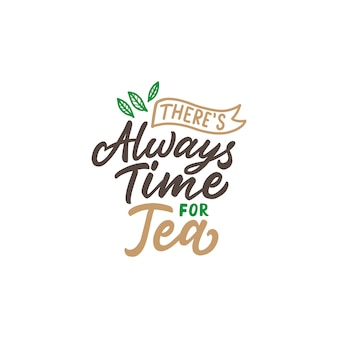 Tea quotes typography poster