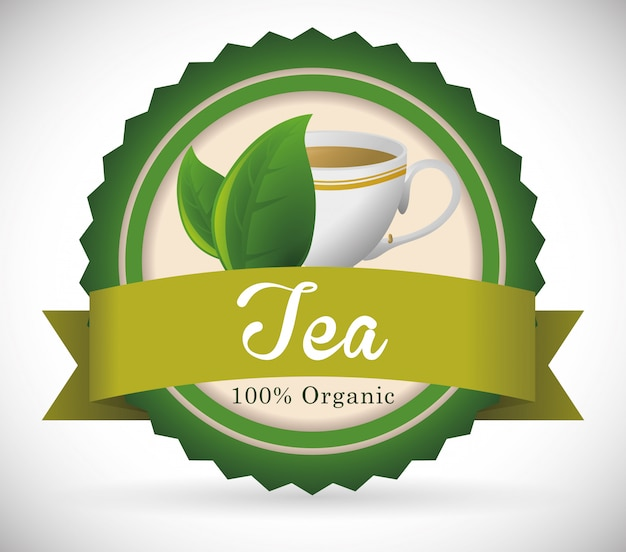 Tea time badge design
