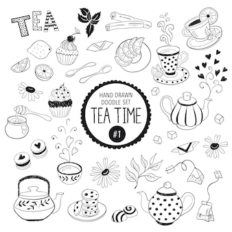 Tea time elements collection