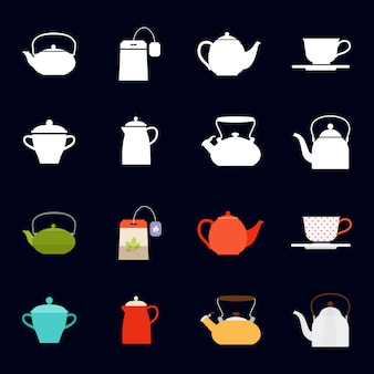 Tea time icons collection