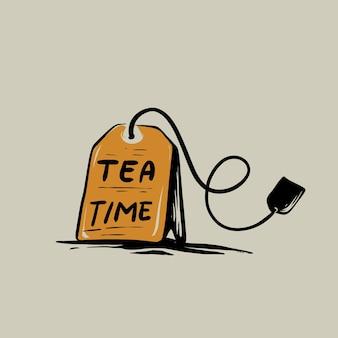 Время чая иллюстрация
