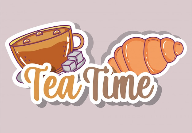 Tea time sketch flat
