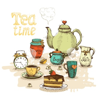 Tea time still life