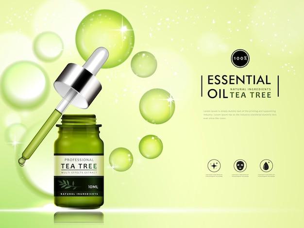 Tea tree essential oil container