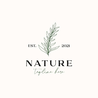 Tea tree monoline vintage hipster for essential oil logo template isolated in white background
