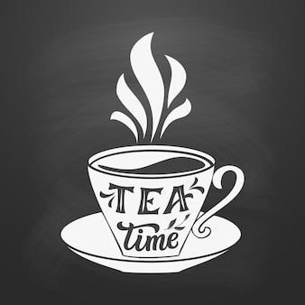 Tea typography quote