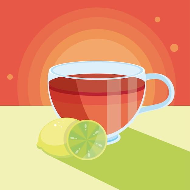 レモン入りのお茶