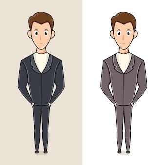 教師の日のアイコンの教師のキャラクターのロゴデザインテンプレート