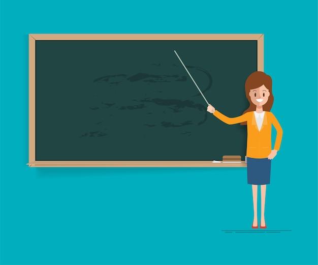 Учитель, указывая на доску в классе.
