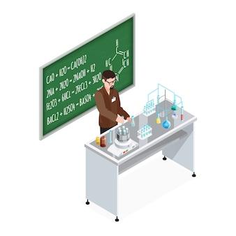 Teacher of chemistry composition