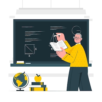 Иллюстрация концепции учителя