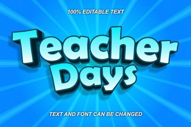 Teacher day editable text effect comic style