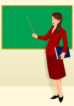 Teacher in front of the classroom