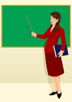 Учитель перед классной комнатой
