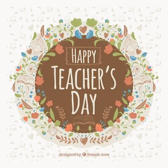 День учителя, цветочная рамка