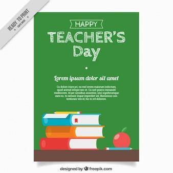 칠판과 책 교사의 날 인사말